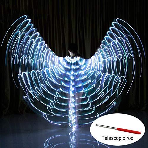 Soulitem Tanz LED Flügel Leuchten Halloween Kostüme Bühnenperformance Kleidung für Erwachsene (Halloween Für Flügel)