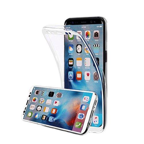 Coque iPhone 6S,Etui iPhone 6S,Housse iPhone 6S Transparent Coque,MingKun Étui Transparent TPU Silicone Case Cover pour iPhone 6 6S 4.7 Pouces Écran Tactile et Tous les aspects de la protection et Com TPU Transparent-Blanc