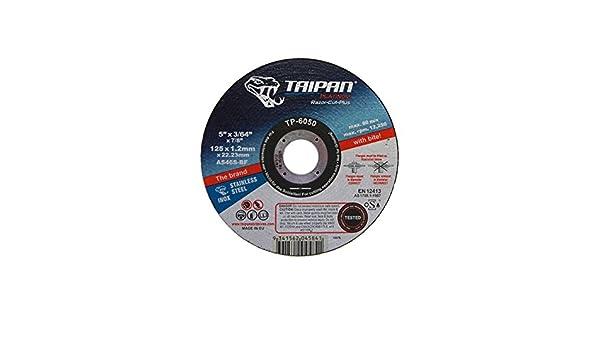 Flat 4-1//2 OD 3//64 Thick Taipan Abrasives TP-6049 Platinum Razor Plus+ Cutting Disc 13300 RPM 7//8 Arbor