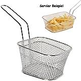 Unbekannt 10 Stück _ Korbschalen -  GROß  - z.B. für Pommes Frites - Korb / Teller Dekoration - auch zur Küchen Deko geeignet / Servierschale - Frittierkorb / Fritteu..
