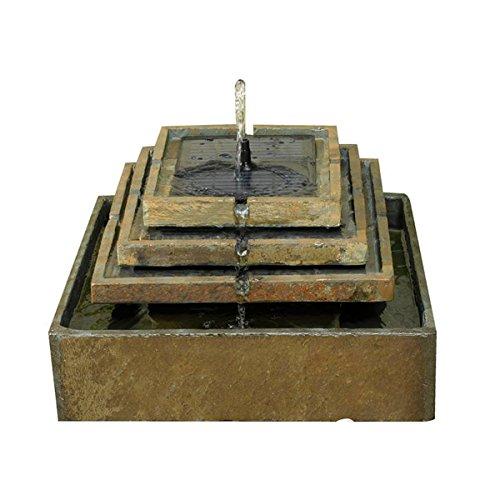 Smart Solar ardesia naturale a fontana solare fontana