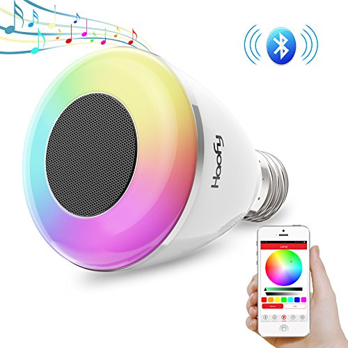 Bombilla LED multicolor ajustable por Bluetooth y con parlante marca Haofy