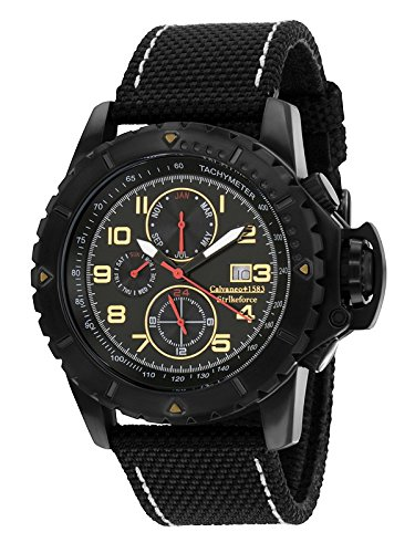 Calvaneo 1583 Strikeforce Black Fighter Special Force chronographe