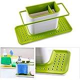 Velveeta Kitchen 3 In 1 Sink Caddy Organizer Kitchen Soap ,Sponge Holder ,Cloth And Brush Holder Accessories