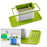 #10: VelVeeta Kitchen 3 IN 1 Sink Caddy Organizer Kitchen Soap ,Sponge Holder ,Cloth and Brush Holder Accessories Items for daily use