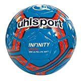 uhlsport Herren Infinity 290 Ultra LITE Soft Bälle, Cyan/Marine/Fluo rot, 5.0