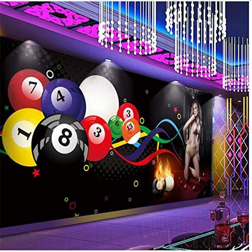 WH-PORP 3D Tapete Tapete Wallpaper Mural Benutzerdefinierte 3D Billardkugel Sexy Beauty Club Gym Tooling Hintergrund Wanddekoration Malerei-128cmX100cm