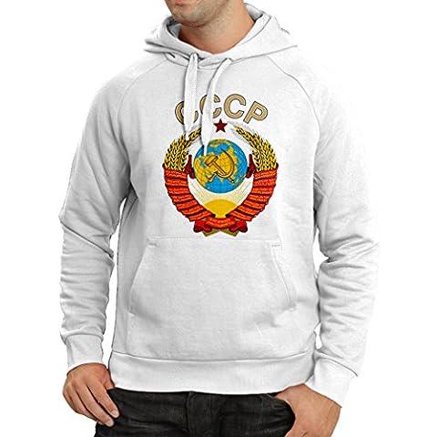 Sweatshirt à capuche manches longues T-shirt Union Soviétique СССР drapeau