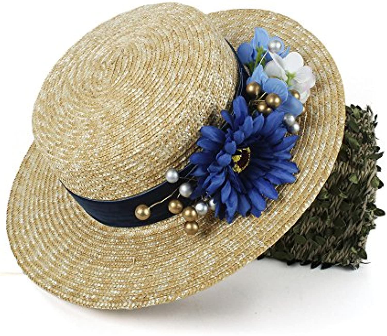 Shishanyun Cappello Estivo da Donna con Cappello di Paglia a Donna Forma di  Cappello Estivo da Donna a con Cappellino... Parent 0ebcca d94cf6ff311c