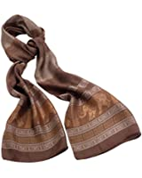 GIZZY® Ladies Brown with Lurex Thread Elephant Print Scarf.