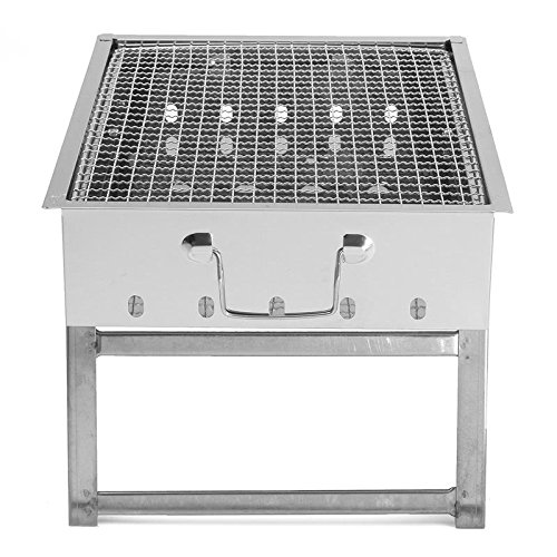 WSSZZ319 Griglia portapiatti Portatile in Acciaio Inox Pentola stoviglie per Esterno girarrosto all'aperto Barbecue a carbonella Casa Forno Set di Cottura Picnic BBQ Camping,setmeal