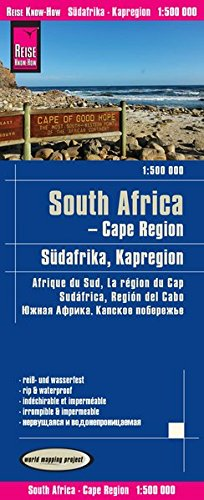 Reise Know-How Landkarte Südafrika Kapregion (1:500.000): world mapping project