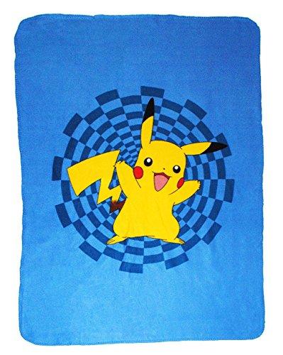 Unbekannt Fleecedecke - Pokémon Pikachu - 110 cm * 140 cm - Decke aus Fleece Kuscheldecke / für Jungen & Mädchen - Pokemon Figur - Kinder Plaid Kinderdecke - Schmusedec.. - Winter-pokemon Plüsch