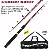 Hunting Hobby Fishing 8 Feet Telescopic Rod with Travelling Bag