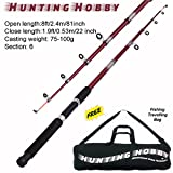 #3: Hunting Hobby Fishing 8 Feet Telescopic Rod With Travelling Bag