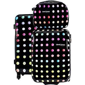 LOT: 2 valises 1 vanity DAVID JONES - Poignée télescopique - Fermeture éclair