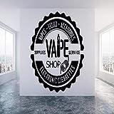caowenhao Boutique Stickers muraux Papier Peint Papier Peint vitrine décoration Murale Cigarette électronique Vinyle Sticker Art...