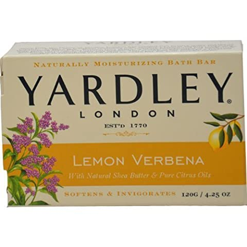 Yardley Lemon Verbena with Shea Butter Bar Soap, 4.25 Ounce by Yardley [Beauty]