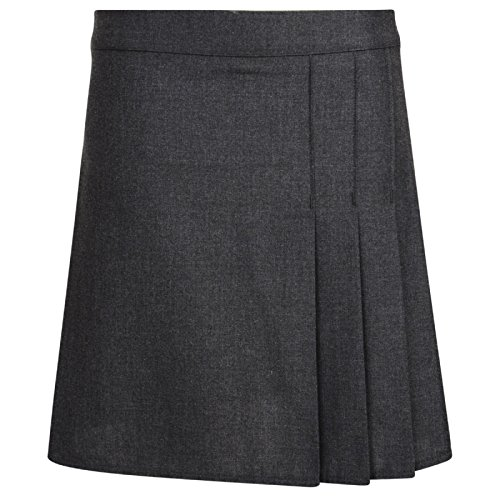GIRLS SCHOOL SKIRT BHS RRP £11 BLACK GREY NEW
