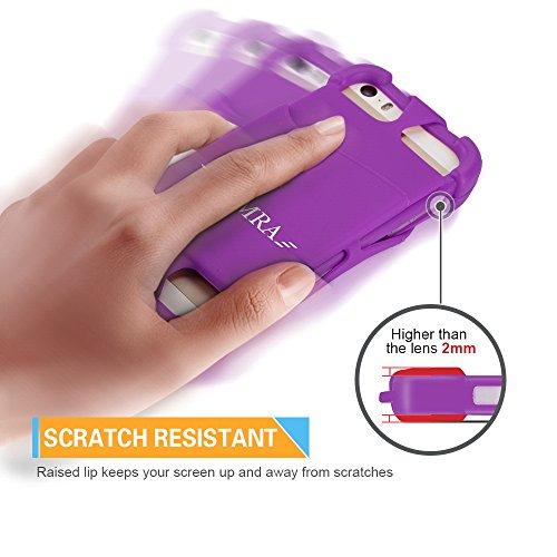 Telefono Cordoncino Universale 4  a 6  Silicone Caso con Collo Cinghia per iPhone 7/7 Plus/6/6 Plus/5/Samsung Note 4/5/LG/HTC/Huawei by ARMRA (Nero) Viola