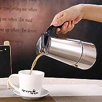 Cafetera, cafetera de acero inoxidable con filtro para fogón–Mango resistente al calor cafetera de filtro para el hogar/oficina uso (100ml) 200 ml As Picture Show