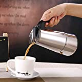 Coffee Pot, Stainless Steel Coffee Maker Pot with Percolator Stove Top - Heat Resistant Handle Coffee Percolator for Home/Office Use(100ML)(200ML)