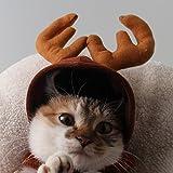 LQZ Haustier Mütze Weihnachten Weihnachtsmütze Rentier Hut Cap Kappe Hunde Katze Winter Kostüm Kostüme Weihnachtskostüm