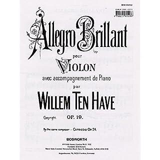 Allegro Brillant. Op. 19. Für Violine und Klavier