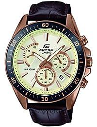 Casio Edifice – Herren-Armbanduhr mit Analog-Display und Echtlederarmband – EFR-552GL-7AVUEF