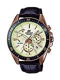 Casio Edifice Herren Uhr Analog Quarz mit Echtlederarmband EFR-552GL-7AVUEF
