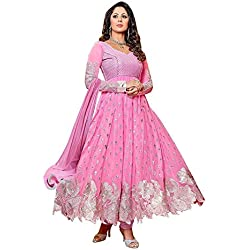 Purva Art Womens Just Launch Baby Pink Georgette Salwar Suit With Dupatta Set_(PA_652_CBPWD_Baby Pink _ Salwar Suit)