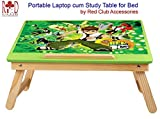 RedClub- Premium BEN 10 Laptop cum Study Folding Table (Kids table) with Adjustable Table Top- Green Colour , with complementary RedClub Pen