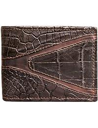 Portafoglio Uomo in Vero Coccodrillo - Prodotto Artigianale fatto nel Cuore  della Toscana - Rettile - 878fd10e264
