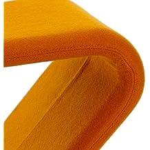 VerPan System 1-2-3 Dining Chair Standard - Chaise, orange 605 étoffe Tonus piètement en aluminium