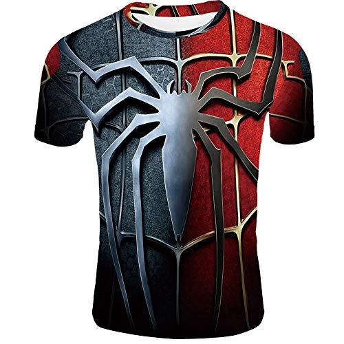 d Spiel Quantum War 3D Gedruckt T-Shirts Männer Compression Shirt Iron Man Cosplay Kostüm Kurzarm,A-XXL ()