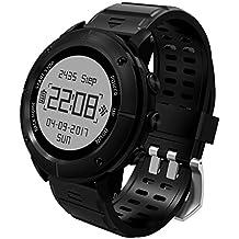 Alta precisione GPS trekking Smart Watch, 100% impermeabile orologio sportivo GPS per uomini e donne, più di 10sport Mode, walking decathlon nuoto con cardiofrequenzimetro/SOS/bussola altimetro/barometro
