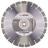 BOSCH Diamanttrennscheibe Best für Concrete, 350 x 20,00 und 25,40 x 3,2 x 15 mm, 2608602658