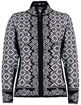 Dale of Norway - Chaqueta para mujer Christiania, color negro/blanco roto, talla M, 81951-F