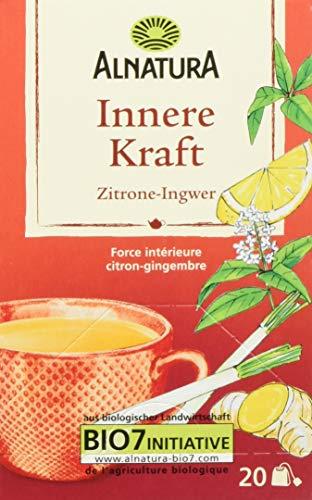 Alnatura Bio Innere-Kraft-Tee Zitrone-Ingwer, 20 Beutel, 6er Pack (6 x 40 g)