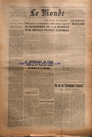 MONDE (LE) [No 753] du 29/06/1947 - baga...
