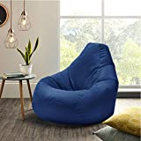 XXL Blue Highback Beanbag Chair Water resistant Bean bags for indoor and Outdoor Use, Great for Gaming chair and Garden Chair