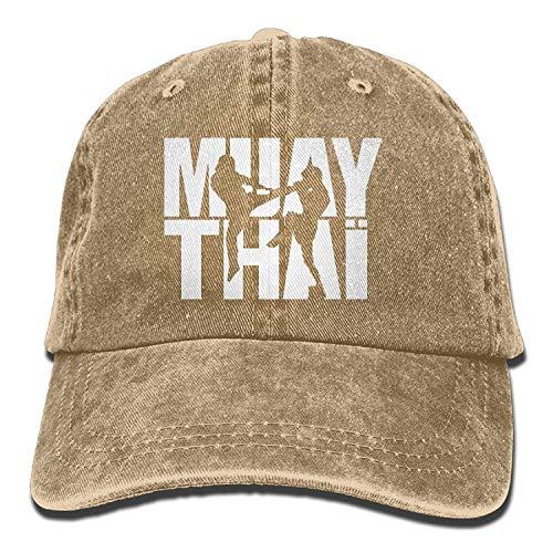ANGLAOU Muay Thai Box 2 Denim Hat Adjustable Male Stretch Baseball Caps -