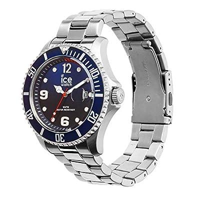 Ice-Watch - Ice Steel Marine Silver - Reloj Azul para Hombre con Correa de Metal - 15775 (Large) de Ice-Watch