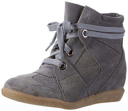 Bronx Mulheres Bx 1277 Cinza Braffx Alta Sneaker (cinza Escuro)