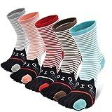 Damen Zehensocken Five Fingers Socken, Damen Socken aus Baumwolle Witzige Socken Karikatur Tier Socken Niedliche Tiere Socken Bunt Muster Socken