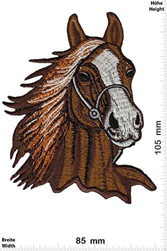 Patch-Iron-Pferdekopf - Pferde - braun - BIG - - Tiere - - Iron On Patches - Aufnäher Embleme Bügelbild Aufbügler