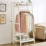 Kleiderablage Chunlan Massivholz Kleiderständer Landung Wohnzimmer Schlafzimmer Foyer Aufhänger (Farbe : Weiß, größe : 70 * 40 * 146cm)