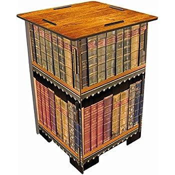 Werkhaus sh8183photo Tabouret Motif livres Antique, MDF, multicolore, 29,5x 29,5x 42cm