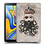 Head Case Designs Officiel Vin Zzep Barbe Noire Vintage Étui Coque en Gel Molle pour Samsung Galaxy Tab A 10.5 (2018)