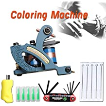 Dragonhawk New Tattoo Machine 4 Kinds Gun Needles Tips Grip Kit (Coloring Machine)